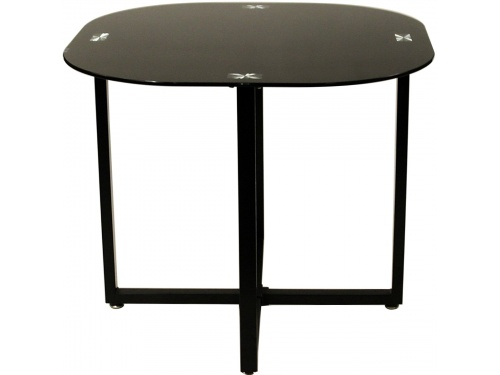 Charles jacobs dining table with 4 6 chairs set round tempered glass space saver ebay - Space saver dining room table ...